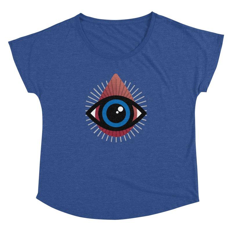 Isolated Tribal Eye for an Eye Women's Dolman Scoop Neck by Eye for an Eye Merch Shop