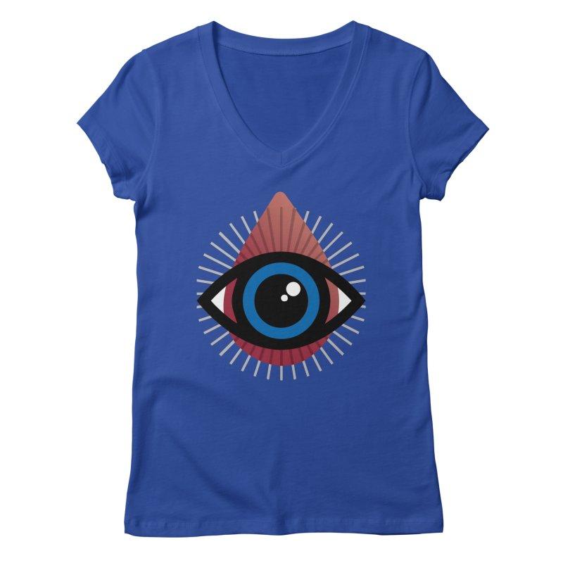 Isolated Tribal Eye for an Eye Women's Regular V-Neck by Eye for an Eye Merch Shop