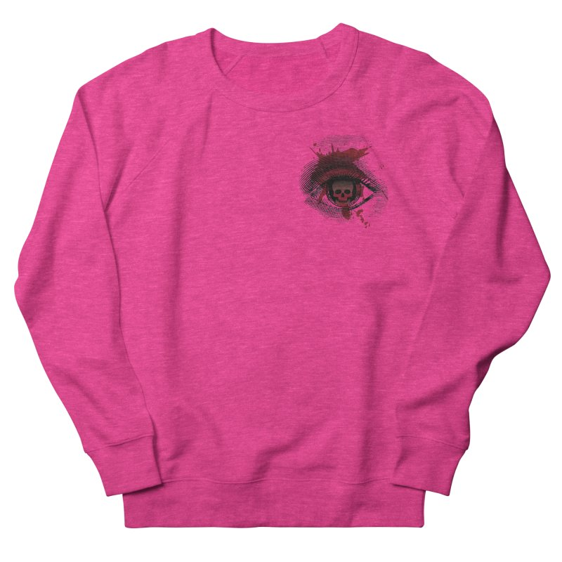 Bloodshot Pocket Sized Women's French Terry Sweatshirt by Eye for an Eye Merch Shop