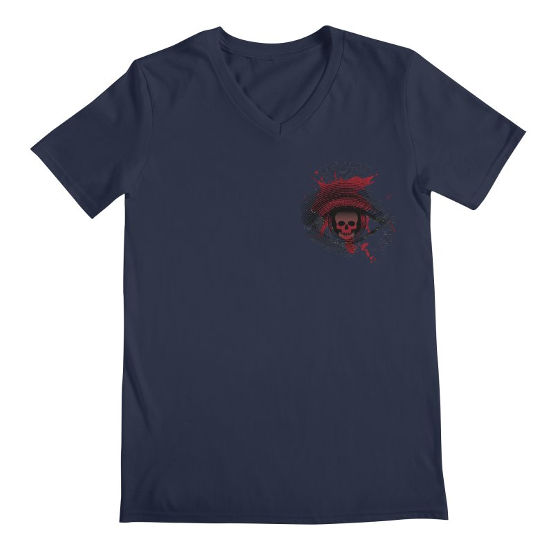 Bloodshot Pocket Sized Men's Regular V-Neck by Eye for an Eye Merch Shop