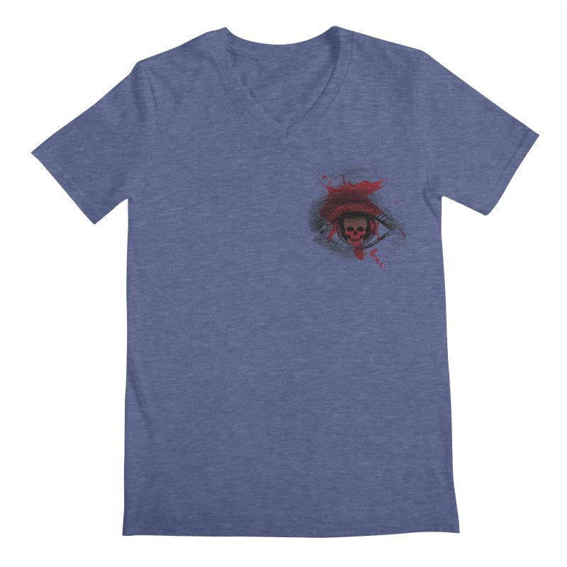 Bloodshot Pocket Sized Men's Regular V-Neck by Eye for an Eye Merch Shop