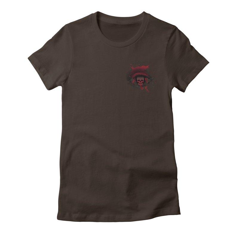 Bloodshot Pocket Sized Women's Fitted T-Shirt by Eye for an Eye Merch Shop
