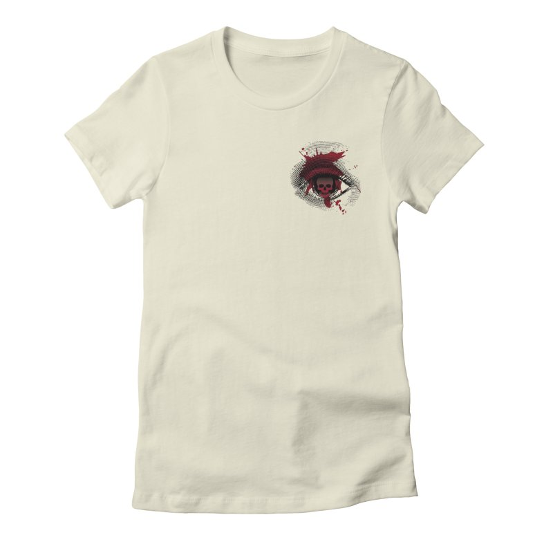 Bloodshot Pocket Sized Women's Fitted T-Shirt by Eye for an Eye Merch Shop