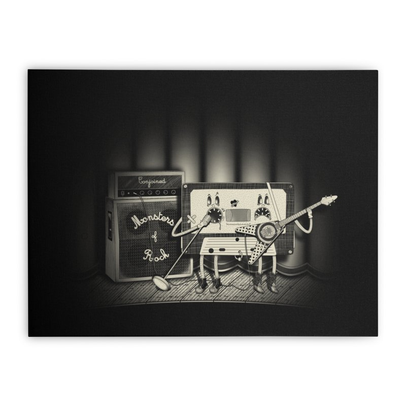 Conjoined Monsters of Rock Home Stretched Canvas by eyejacker's shop