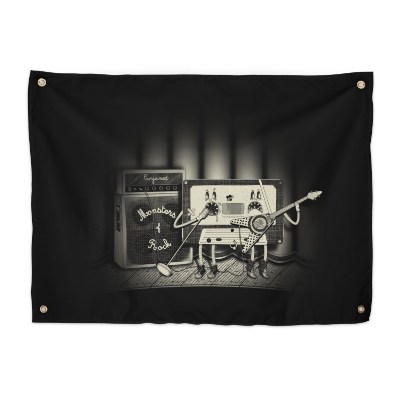 Conjoined Monsters of Rock Home Tapestry by eyejacker's shop