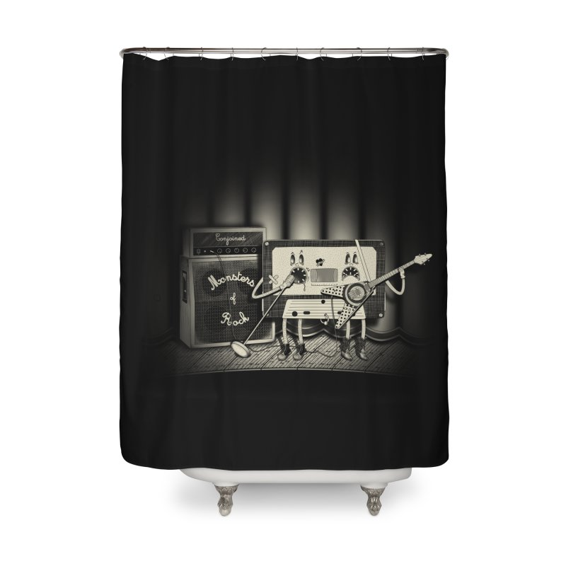 Conjoined Monsters of Rock Home Shower Curtain by eyejacker's shop