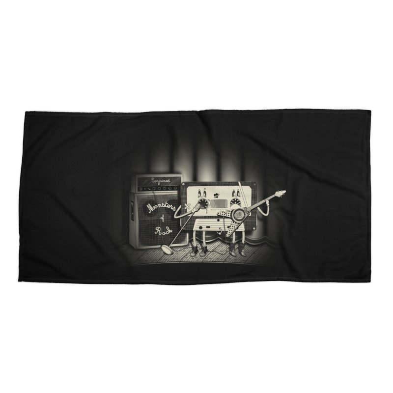 Conjoined Monsters of Rock Accessories Beach Towel by eyejacker's shop