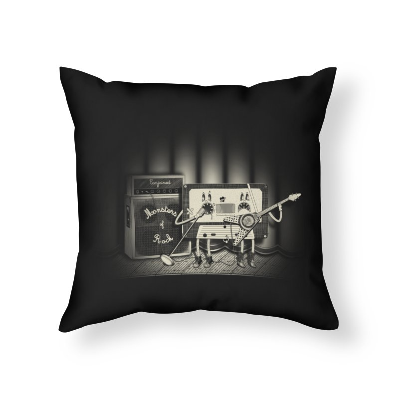 Conjoined Monsters of Rock Home Throw Pillow by eyejacker's shop