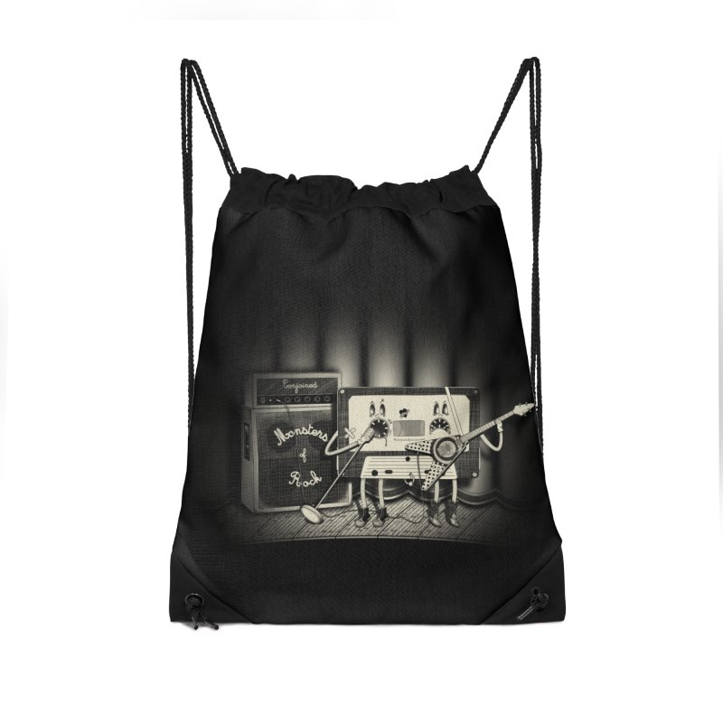 Conjoined Monsters of Rock Accessories Drawstring Bag Bag by eyejacker's shop