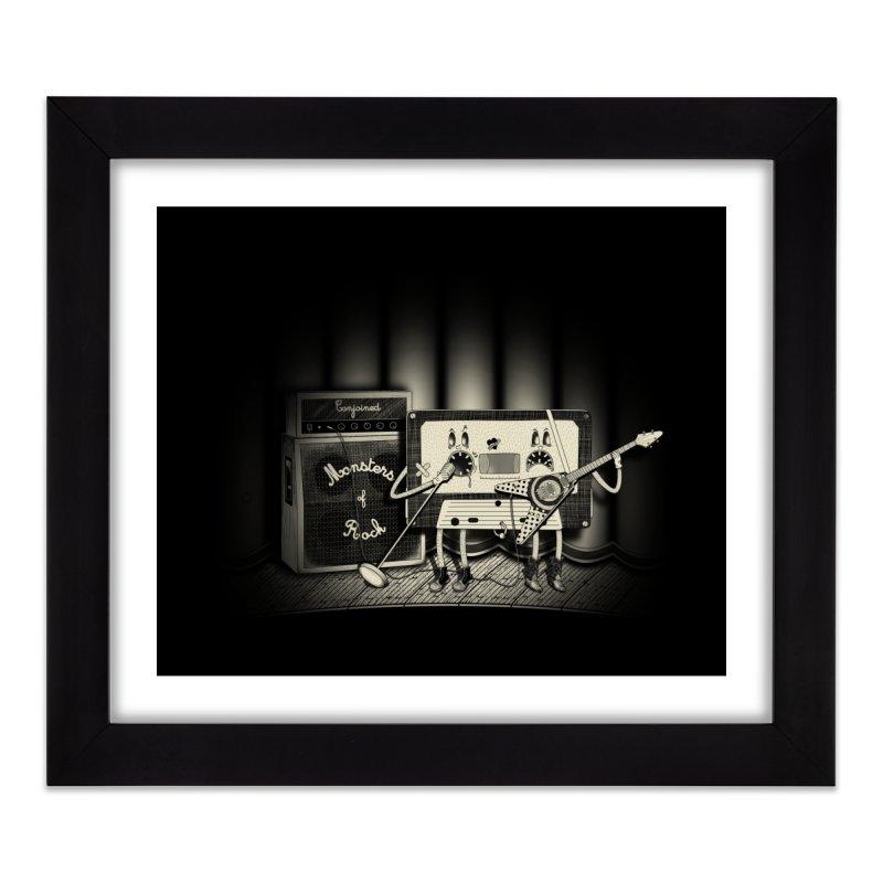 Conjoined Monsters of Rock Home Framed Fine Art Print by eyejacker's shop