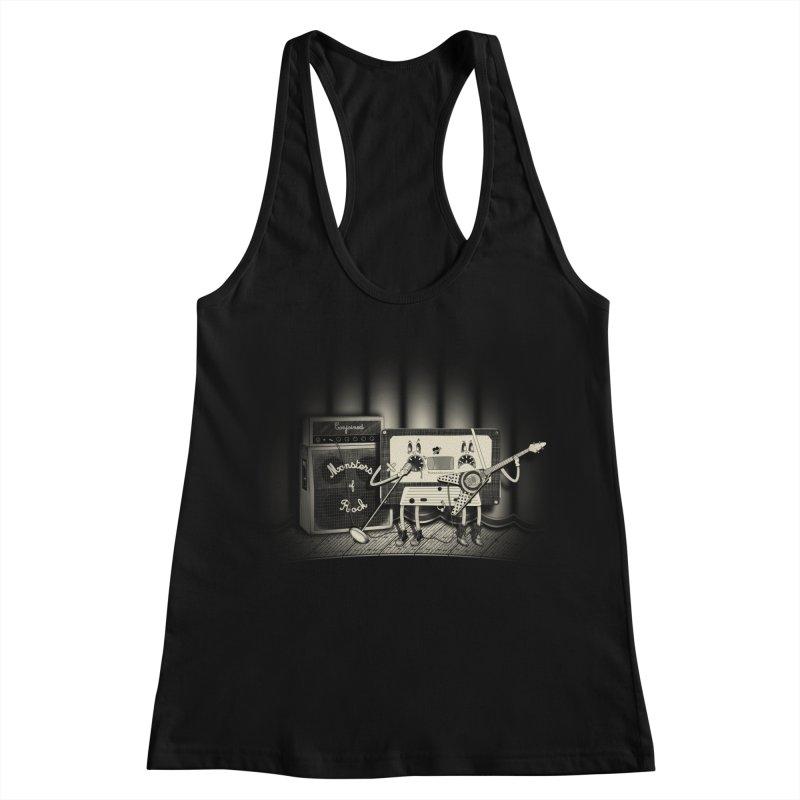 Conjoined Monsters of Rock Women's Racerback Tank by eyejacker's shop