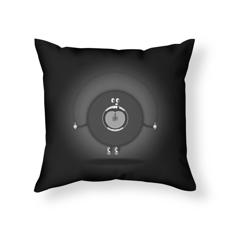 Old Skipping Record Home Throw Pillow by eyejacker's shop