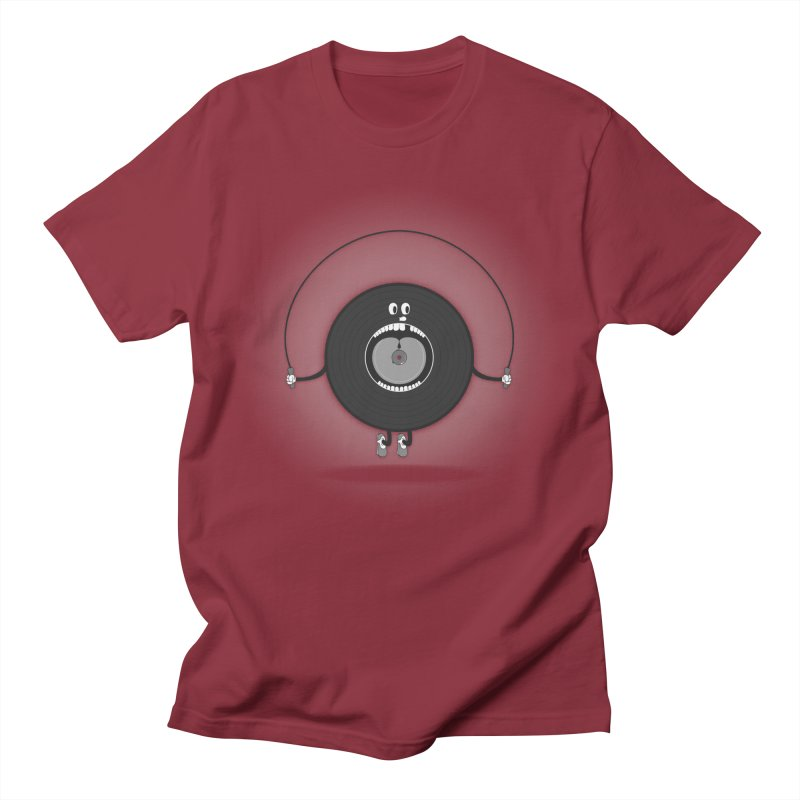 Old Skipping Record Men's T-Shirt by eyejacker's shop