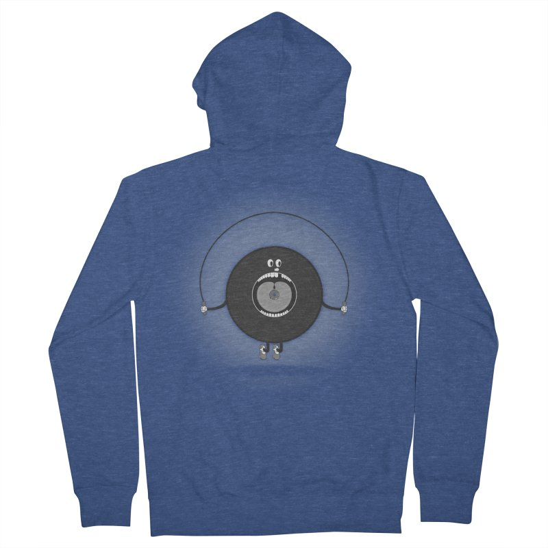 Old Skipping Record Women's French Terry Zip-Up Hoody by eyejacker's shop