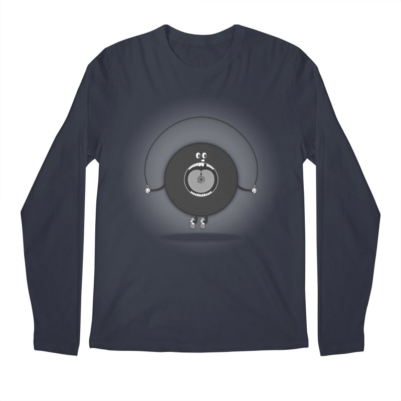 Old Skipping Record Men's Regular Longsleeve T-Shirt by eyejacker's shop