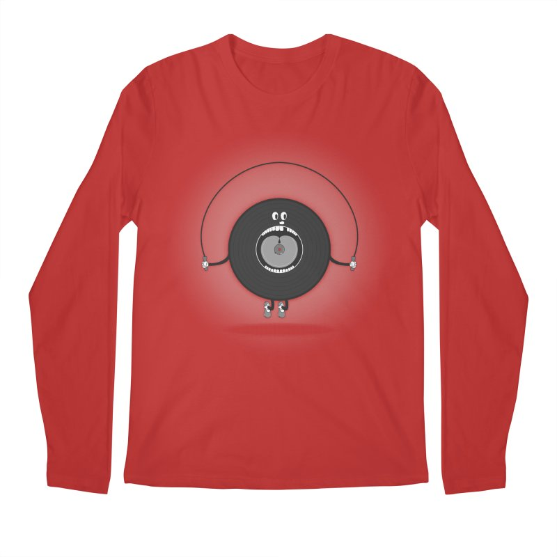 Old Skipping Record Men's Regular Longsleeve T-Shirt by eyejacker's shop