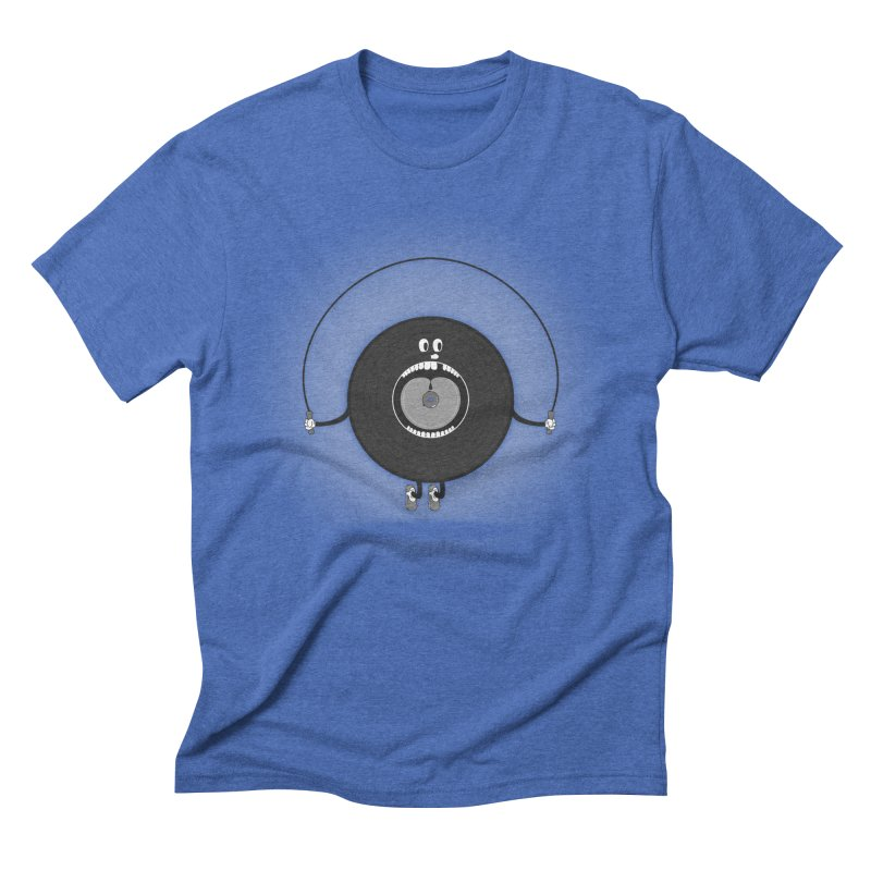 Old Skipping Record Men's Triblend T-Shirt by eyejacker's shop