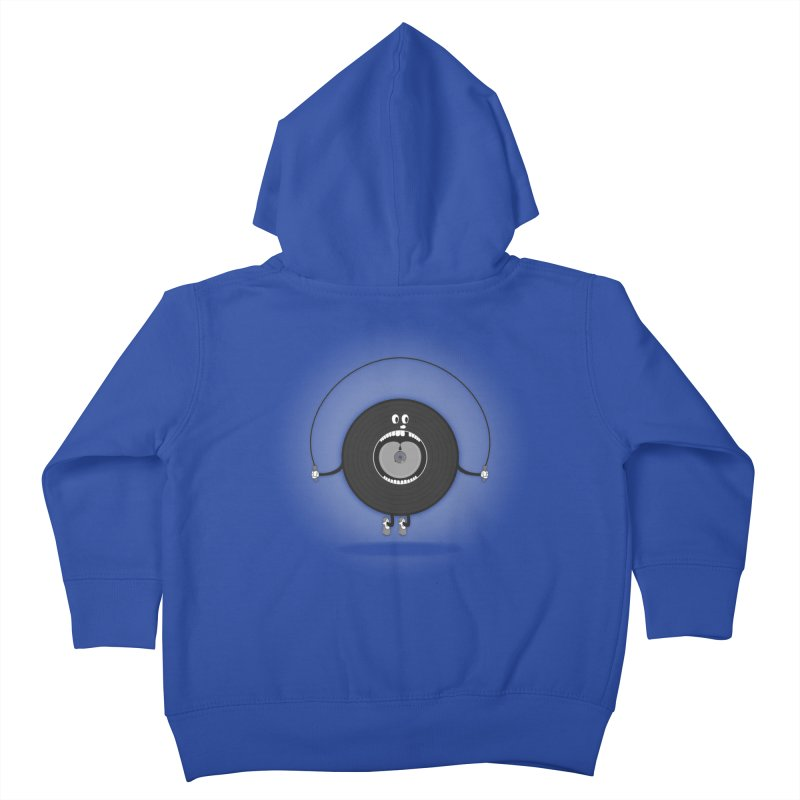 Old Skipping Record Kids Toddler Zip-Up Hoody by eyejacker's shop