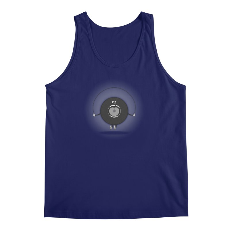 Old Skipping Record Men's Tank by eyejacker's shop