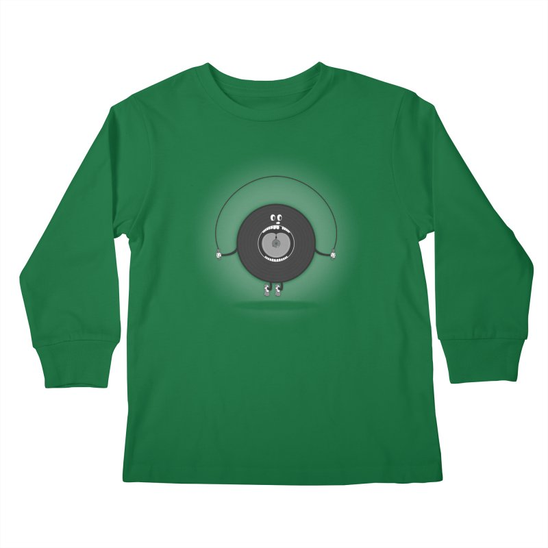 Old Skipping Record Kids Longsleeve T-Shirt by eyejacker's shop