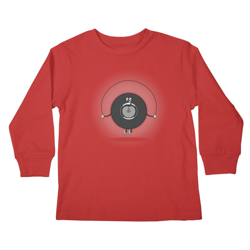 Old Skipping Record Kids Longsleeve T-Shirt by eyejacker's shop