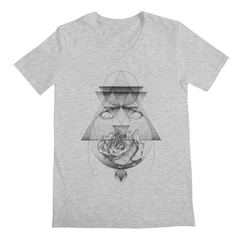 Lupine Rosaceae Men's Regular V-Neck by eyejacker's shop