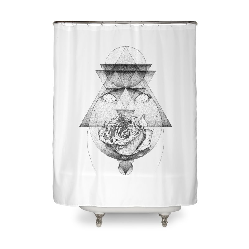 Lupine Rosaceae Home Shower Curtain by eyejacker's shop