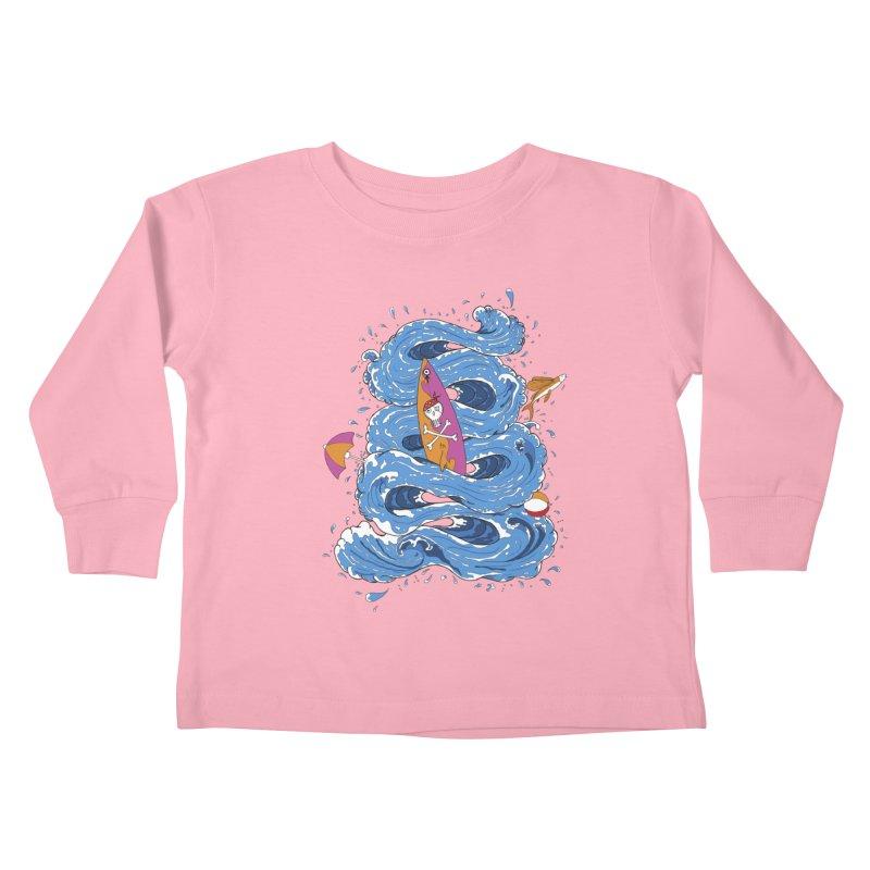 Wipeout Kids Toddler Longsleeve T-Shirt by eyejacker's shop