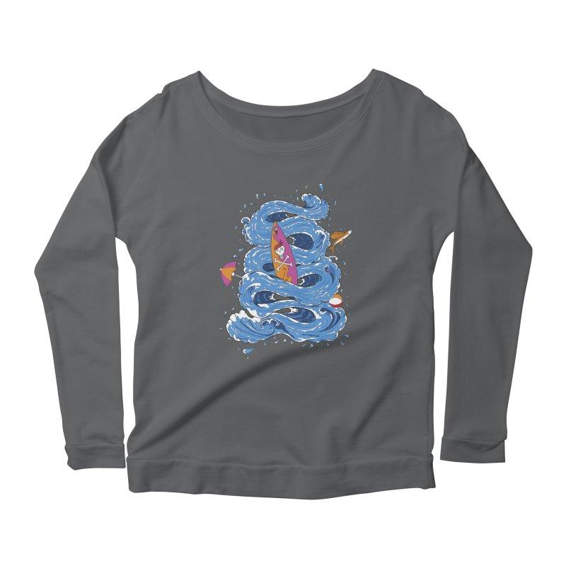 Wipeout Women's Scoop Neck Longsleeve T-Shirt by eyejacker's shop