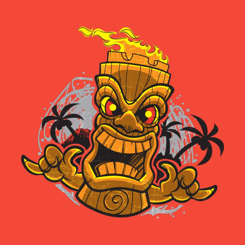 Tiki Men's T-Shirt by Eye Opening Design