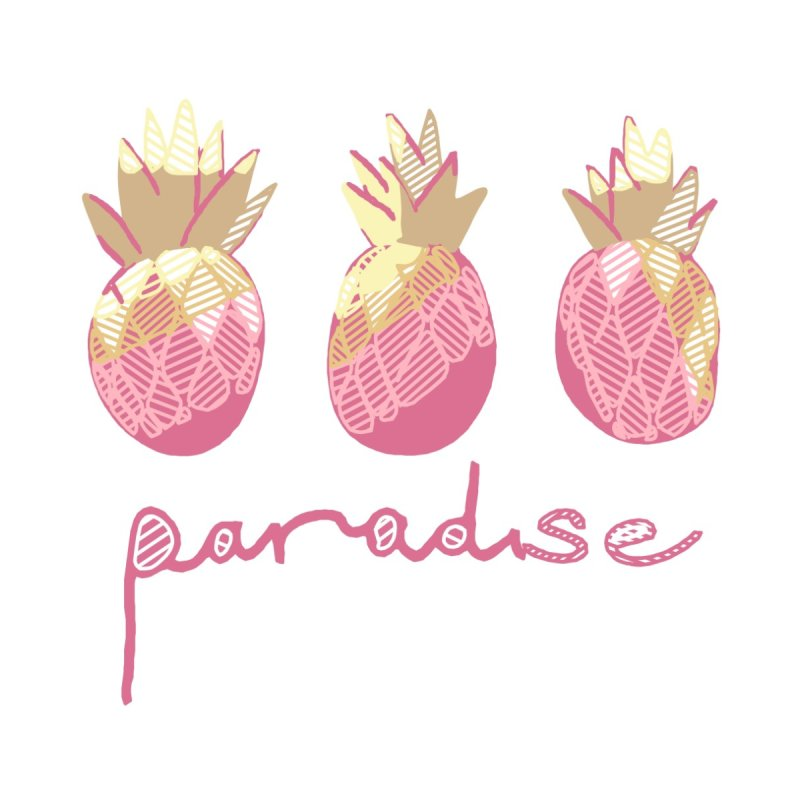 Pineapple Paradise Men's T-Shirt by Becca Douglas Art