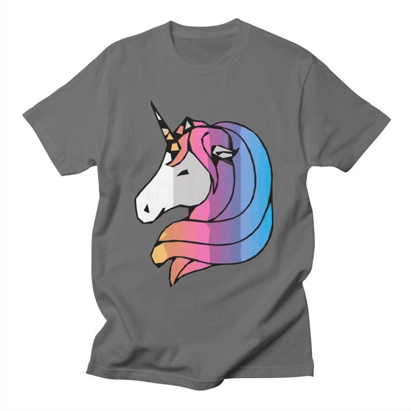 Minimalist Unicorn Men's T-Shirt by Becca Douglas Art