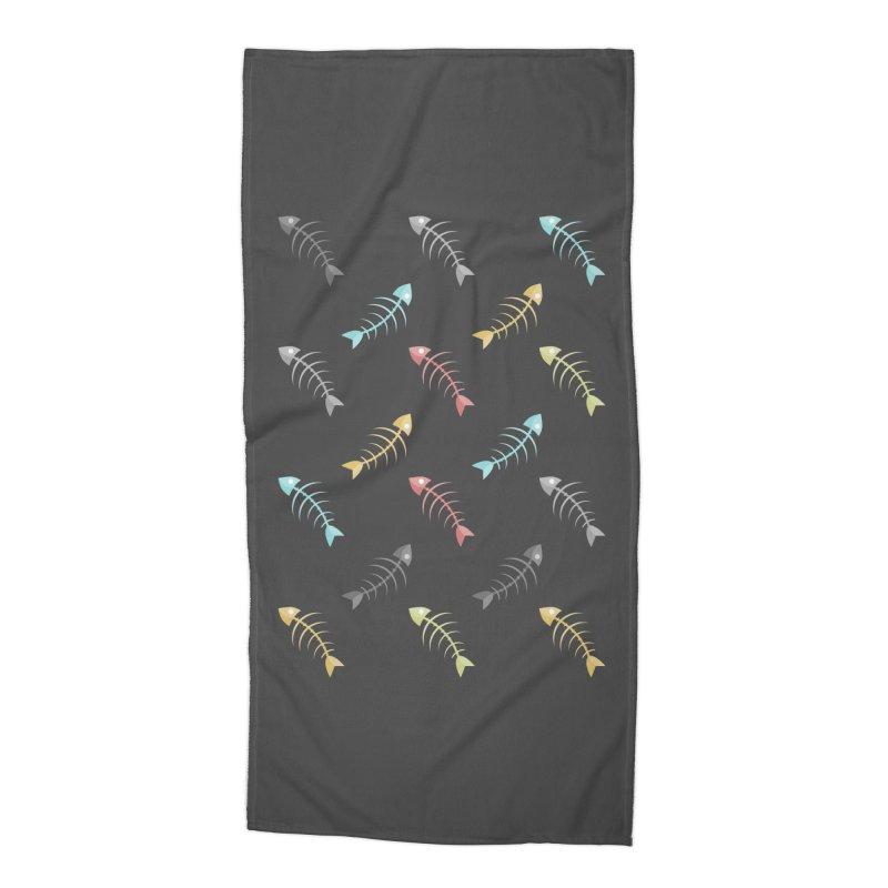 Fish Boned Accessories Beach Towel by ezCREATtire - Bulk up on Good Gear