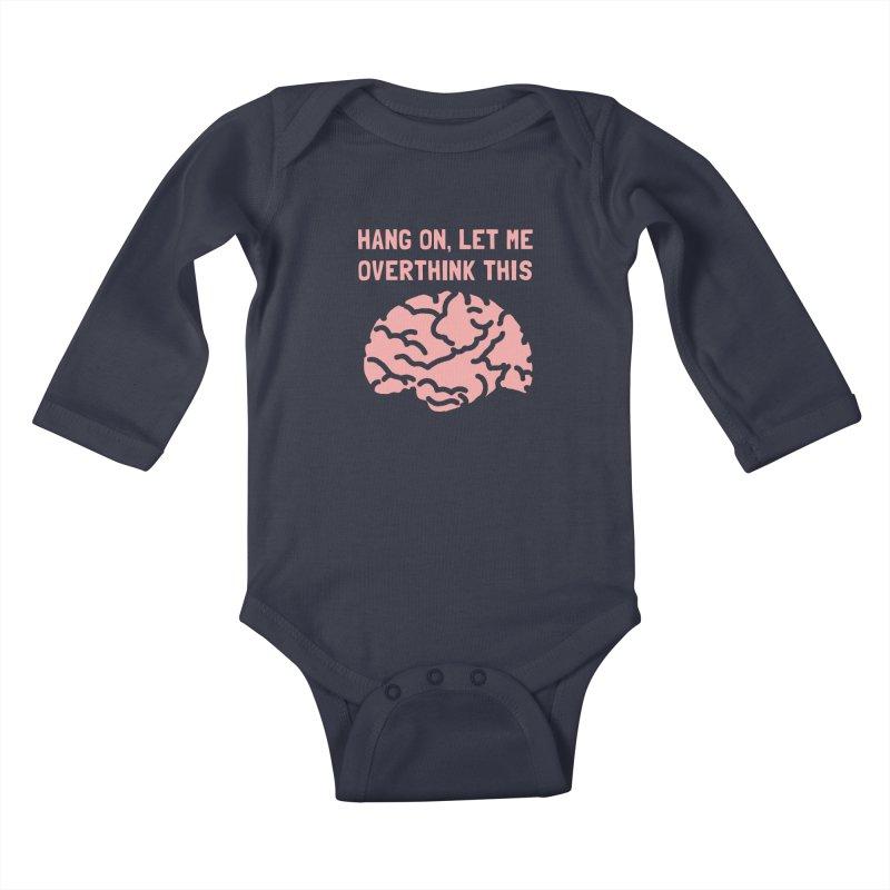 Overthink This Kids Baby Longsleeve Bodysuit by ezCREATtire - Bulk up on Good Gear