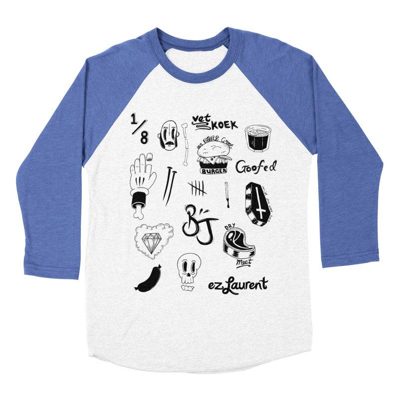 Flash Men's Baseball Triblend T-Shirt by ezlaurent's Artist Shop