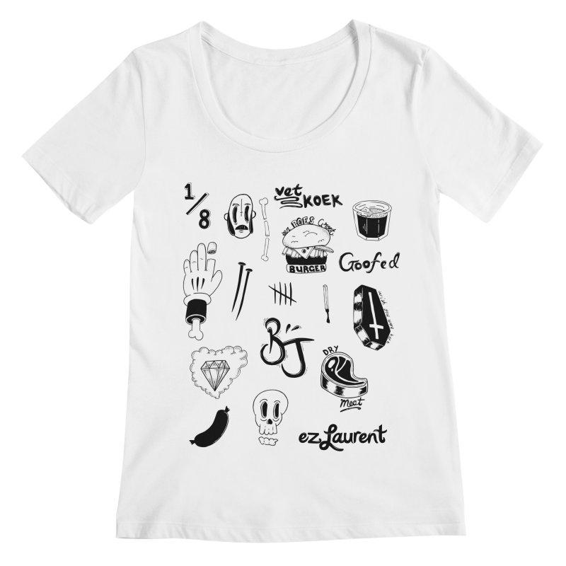 Flash Women's Scoopneck by ezlaurent's Artist Shop