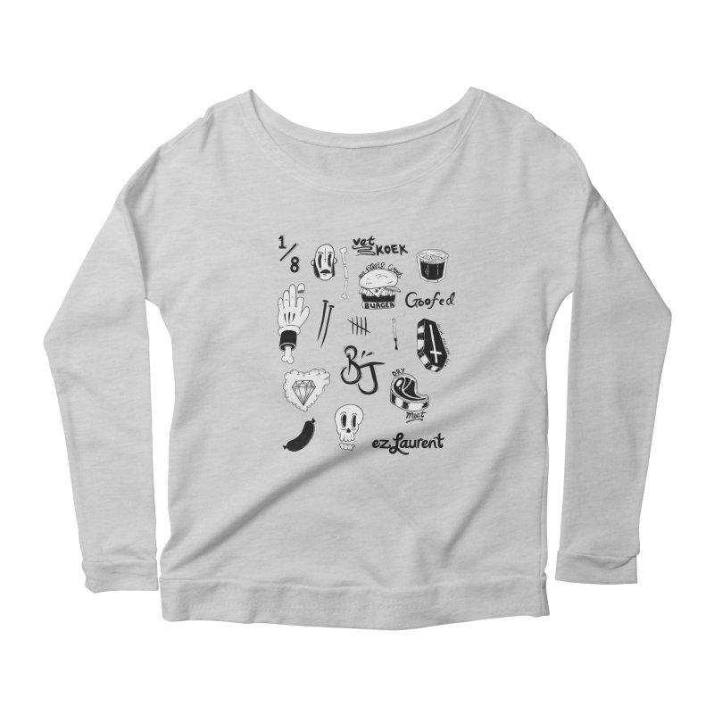 Flash Women's Scoop Neck Longsleeve T-Shirt by ezlaurent's Artist Shop