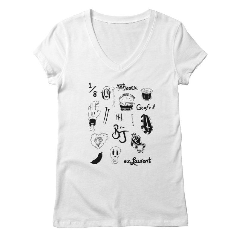 Flash Women's V-Neck by ezlaurent's Artist Shop