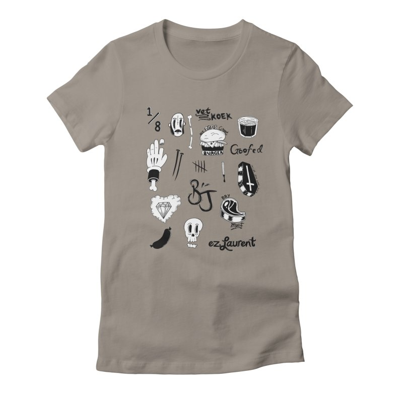 Flash Women's Fitted T-Shirt by ezlaurent's Artist Shop
