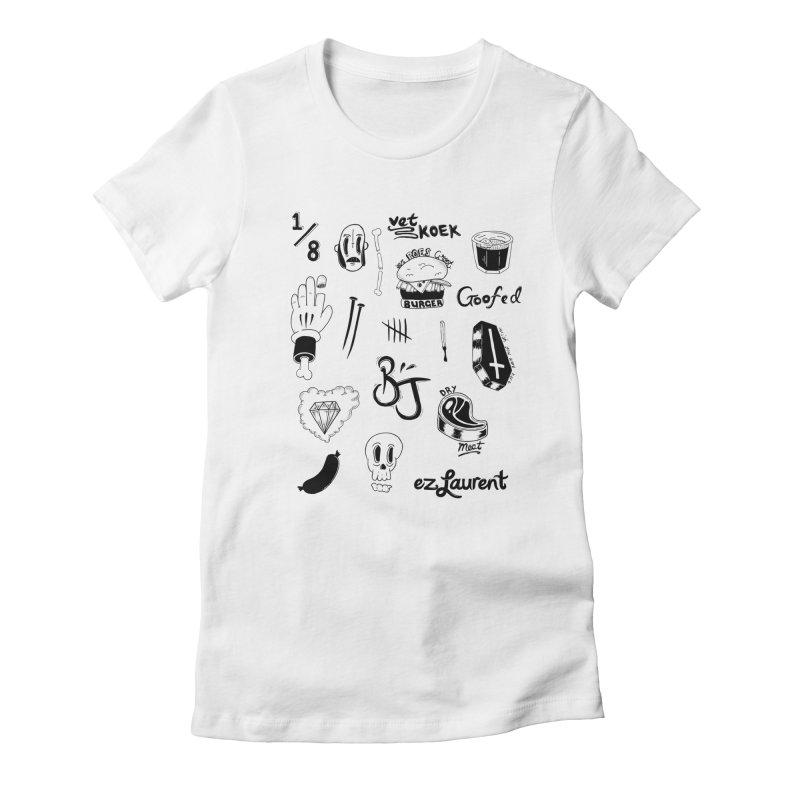 Flash Women's Fitted T-Shirt by ezlaurent's Artist Shop