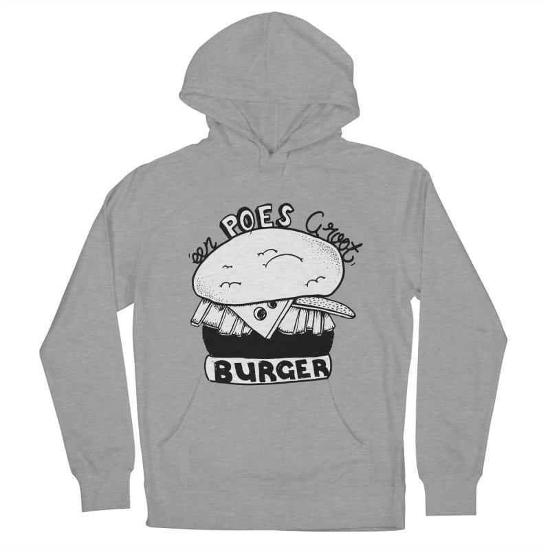poes burger Women's Pullover Hoody by ezlaurent's Artist Shop