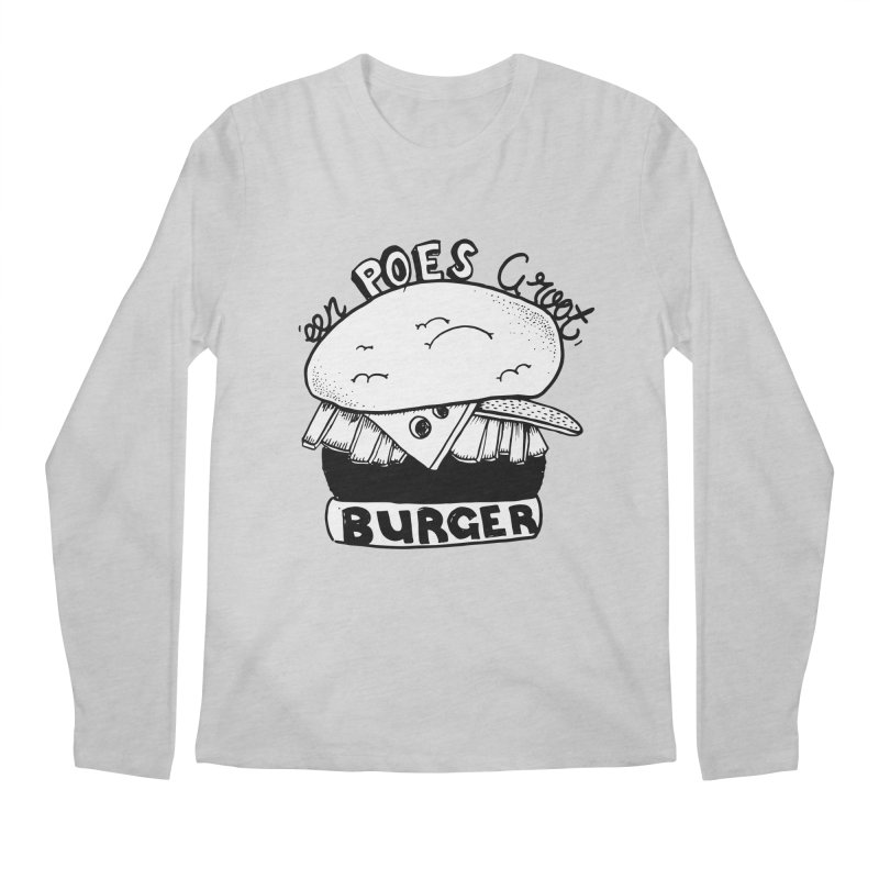 poes burger Men's Longsleeve T-Shirt by ezlaurent's Artist Shop