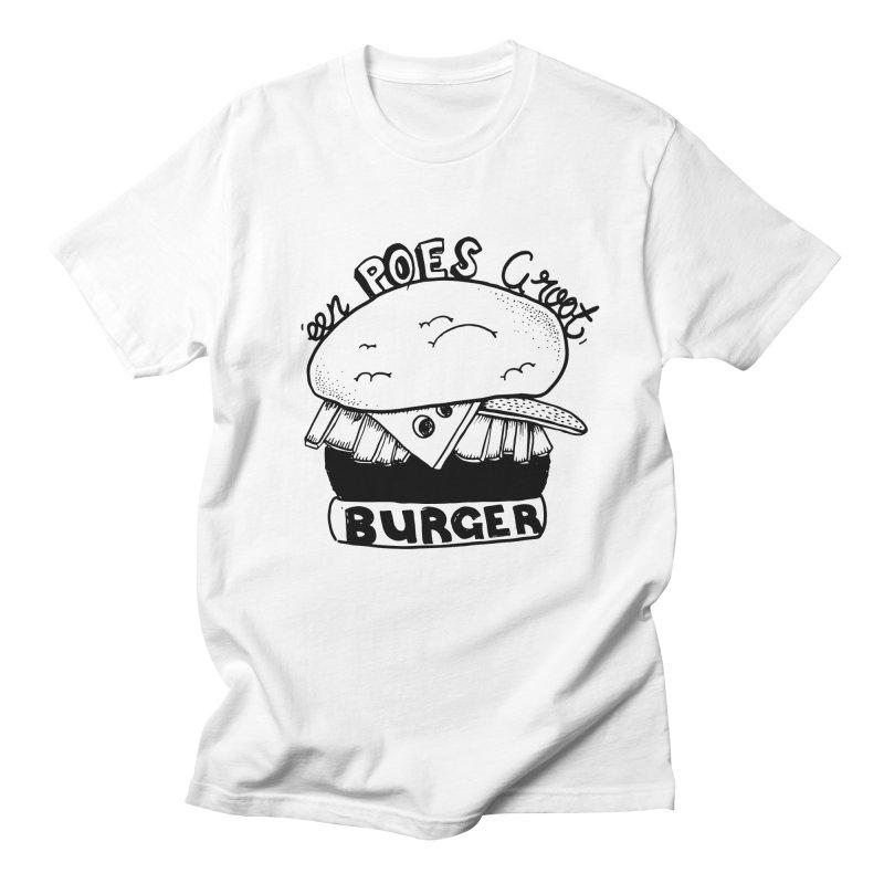 poes burger Men's T-Shirt by ezlaurent's Artist Shop