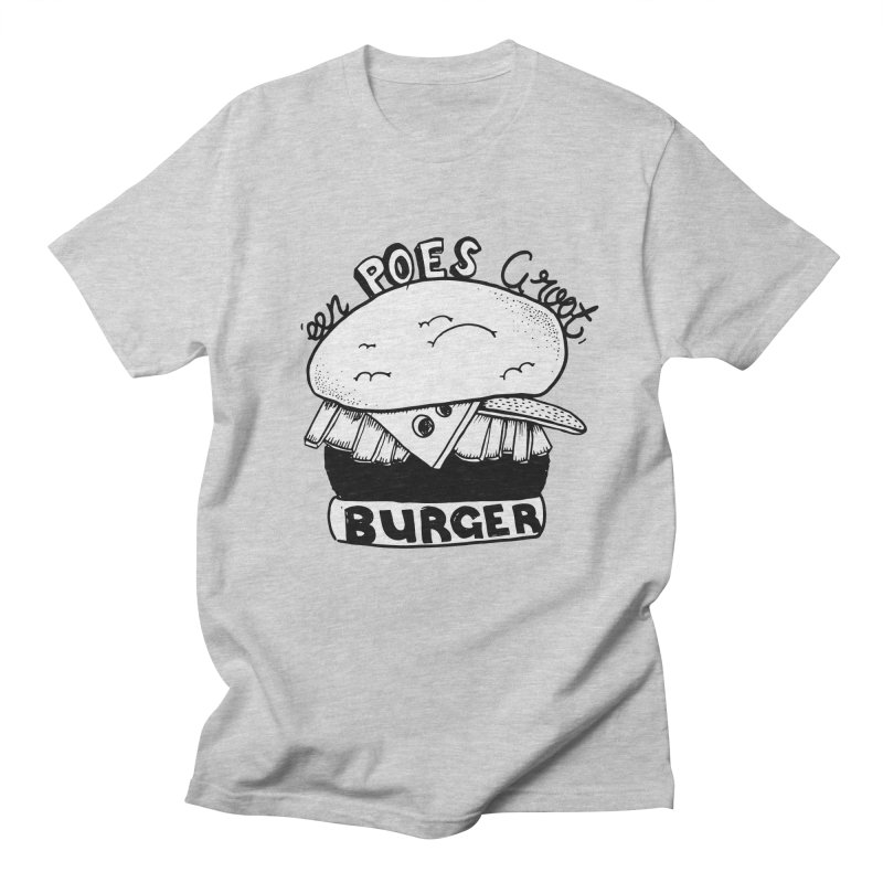 poes burger Men's T-shirt by ezlaurent's Artist Shop