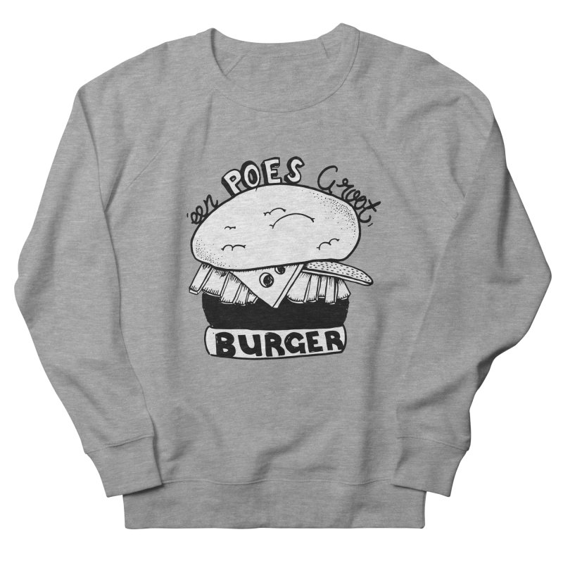 poes burger Women's Sweatshirt by ezlaurent's Artist Shop