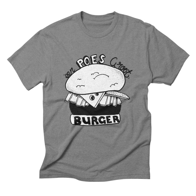poes burger Men's Triblend T-Shirt by ezlaurent's Artist Shop