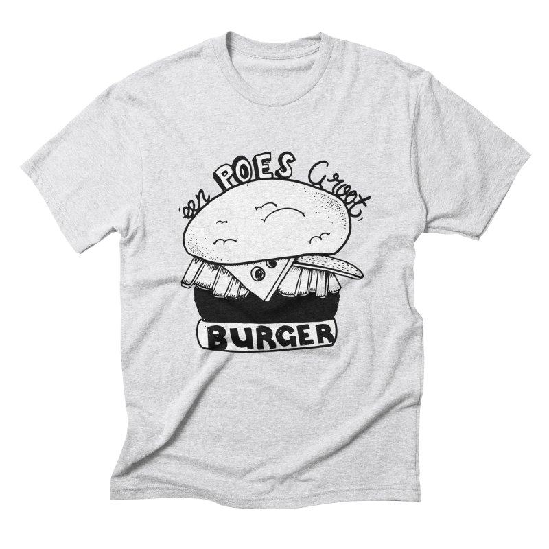 poes burger Men's Triblend T-Shirt by ezlaurent's Artist Shop