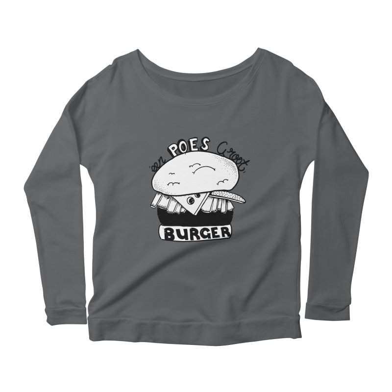 poes burger Women's Scoop Neck Longsleeve T-Shirt by ezlaurent's Artist Shop