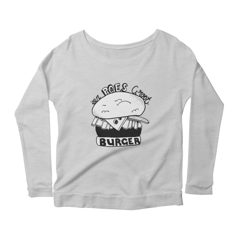 poes burger Women's Longsleeve Scoopneck  by ezlaurent's Artist Shop