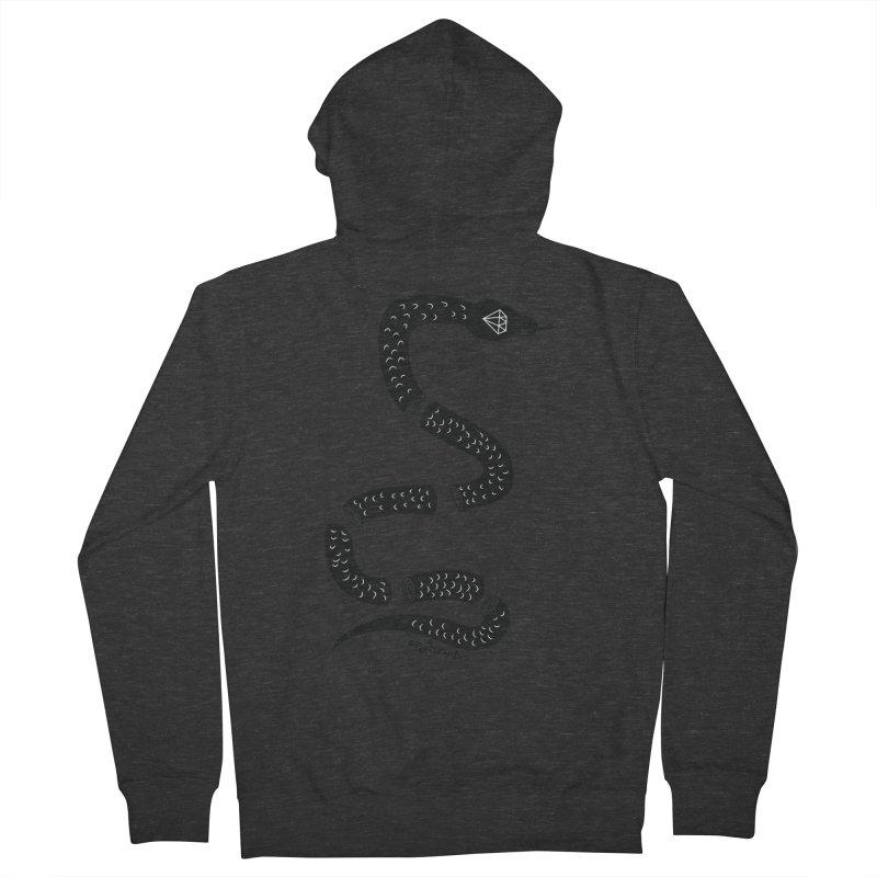 snake Men's Zip-Up Hoody by ezlaurent's Artist Shop